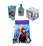 Disney Frozen Girls Bathroom Accessory Beauty Set Plus Bonus Disney Frozen Over The Shoulder Sling Bag! Featuring Princess Elsa, Anna & Olaf!
