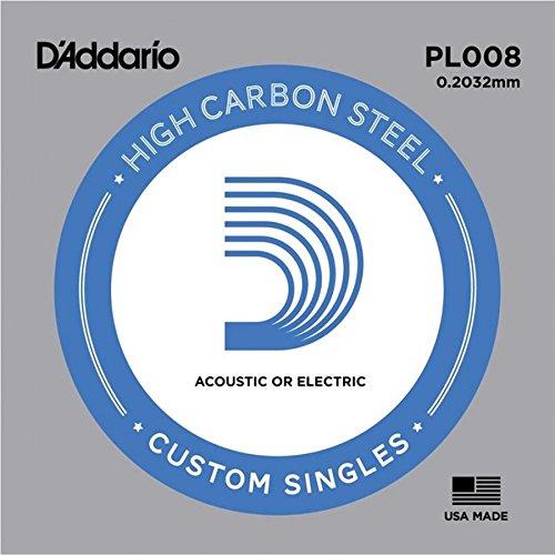 Amazon.com: CUERDAS GUITARRA ELECTRICA - D´addario /PL008/Plana (5 Unidades): Musical Instruments