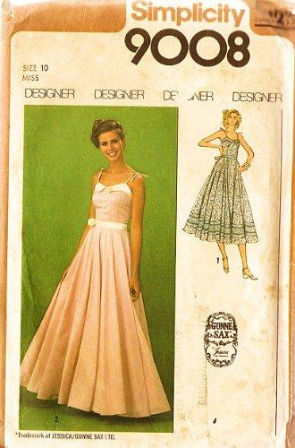 Amazon.com: Simplicity 9008 Gunne Sax Designer Dress Sewing Pattern ...