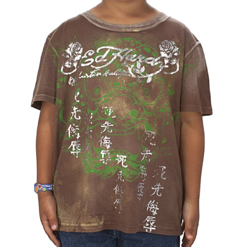 Ed Hardy Big Boys' Dragon T-Shirt - Brown - Medium (Ed Hardy Dragon T-shirt)