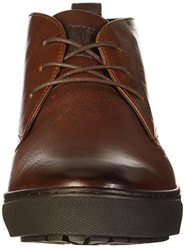 Brax - Zapatos de cordones de cuero para hombre Marrón