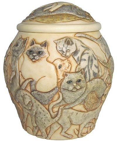 Harmony Kingdom - Harmony Ball - Jardinia - Cat's Galore - Cat Pet Cremation Urn