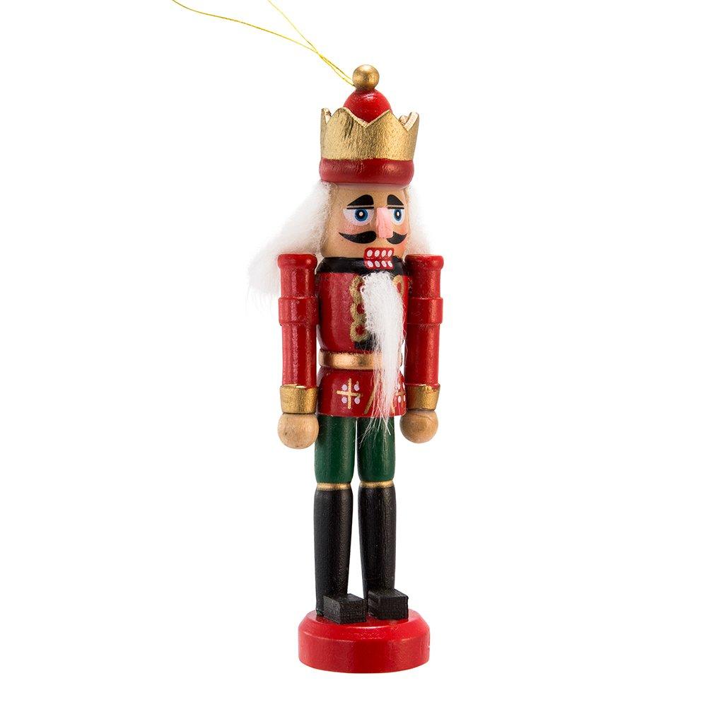 Amazon.com: Kurt Adler Wooden Nutcracker Ornament Set: Home & Kitchen