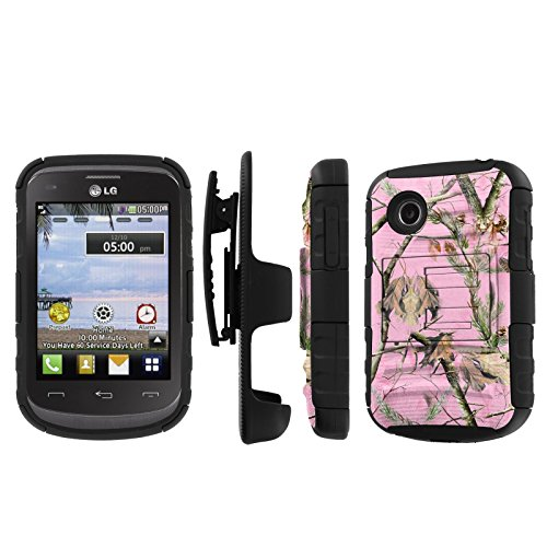 Click to buy NakedShield LG 306G 305C (Pink Hunter Camouflage) Combat Tough Holster KickStand Armor Phone Case - From only $15.95