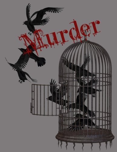 A Murder of Crows College Ruled Notebook: 8.5 x 11 inch Composition Style Notebook: 100 Sheets, 200 (Horror One Sheet)