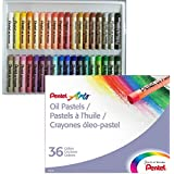 Giz Pastel Oleoso Pentel para Desenhar com 36 Cores, Pentel, PHN-36, 36 Cores