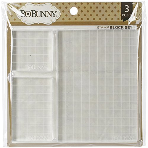 (Bo Bunny Acrylic Stamp Blocks, 2 by 2-Inch/2 by 3.25-Inch/4 by 5.5-Inch,)