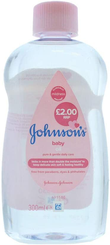 Johnsons: Baby Oil Regular - 300ml, for a baby's soft and sensitive skin