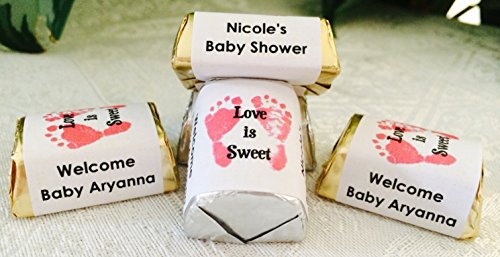- 210 FOOTPRINTS BABY SHOWER HERSHEY NUGGET CANDY WRAPPERS/STICKERS/LABELS personalized for your party, make your own party favors using your Hershey nuggets! by The Camera Depot