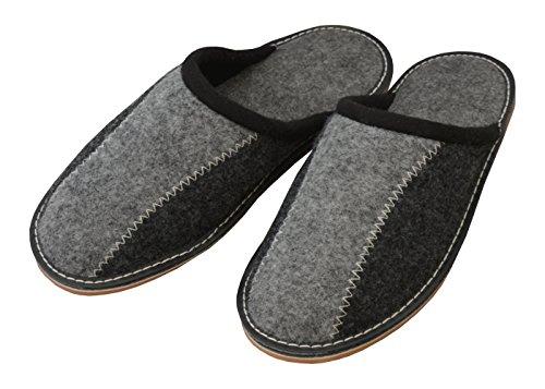 Gomma E Becomfy Pantofole Di Gomma Fms06 Feltro Comode Suola Casa Leggere suola In Feltro OBUrOv