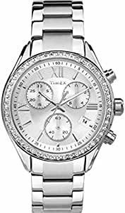 Timex Kaleidoscope Miami Women's Quartz Watch with Chronograph Display and Stainless Steel Strap
