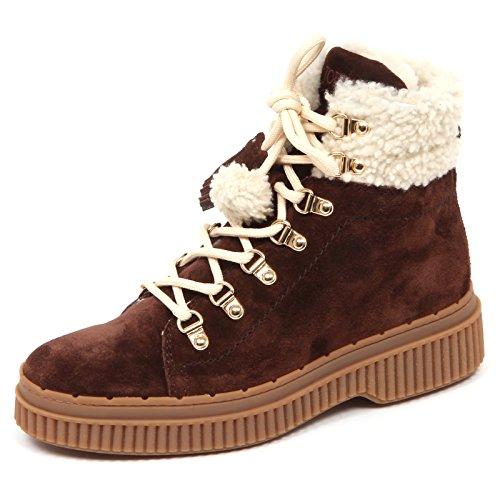 Scarpe Donna Fur Sneaker Woman Shoe Marron Tronchetto Inside Tod's Merino E5190 Brown AqIEEH