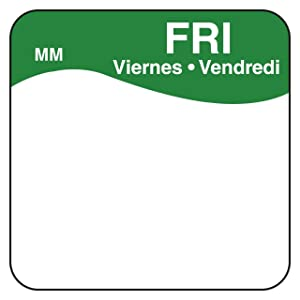 DayMark Day of the Week Removable Label, Friday, 1