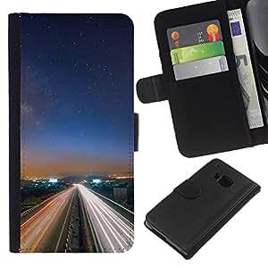 Ihec-Tech / Flip PU Cuero Cover Case para HTC ONE M7 - Nature Beautiful Forrest Green 154