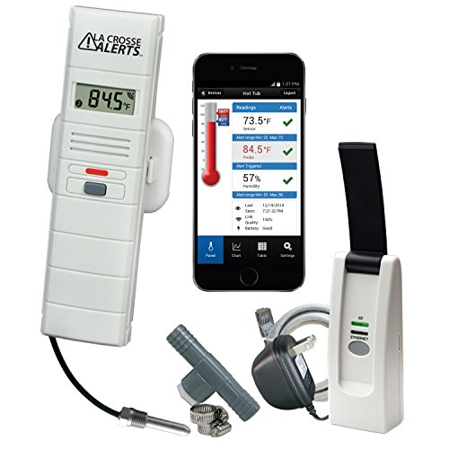 La Crosse Alerts Mobile Wireless 926-251031-HT Monitor System with Hot Tub Accessory Set ()
