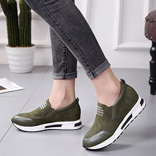 Fashion Winter Slip On Shoes Ankle TM Platform Green Sneaker Boots Wedges Elevin 2018Women EZt0q