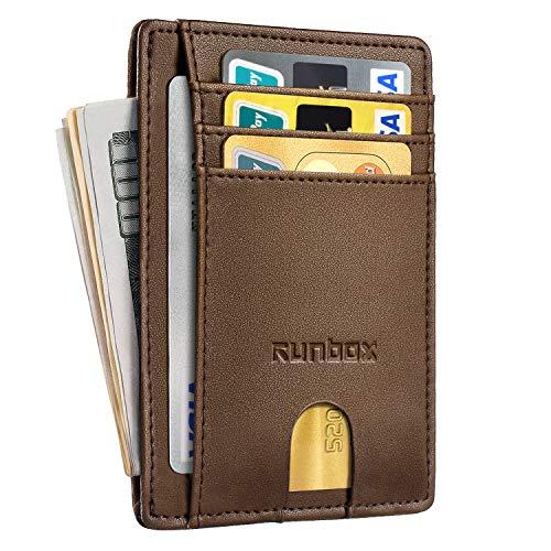 Minimalist Slim Front Pocket Wallets for Men with RFID Blocking & Genuine Leather ()