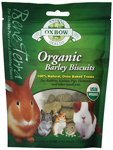 Oxbow Animal Health Barley Biscuits Bene Terra Organic Food and Treats, 2.65-Ounce (Pack of 2)