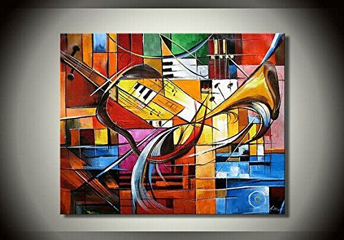 ode-rin-art-christmas-gift-hand-painted-abstrat-art-work-on-oil-paintings-musical-instruments-wood-f