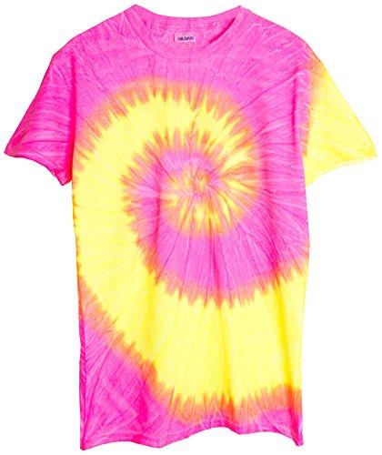 Ragstock Tie Dye T-Shirt, Fluorescent-Swirl - XL