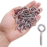 10 PCS Stainless Steel Eye Hooks, Heavy Duty Screw