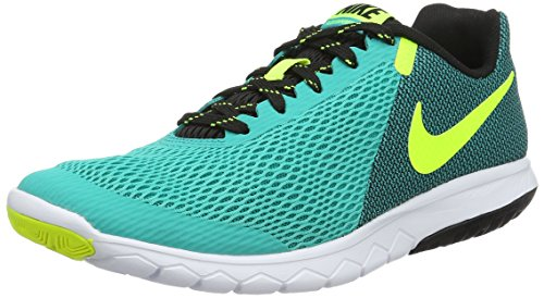 Nike Women's WMNS Flex Experience Rn 5 Gymnastics Shoes, Black Green (Clear Jade/Volt-black-white)