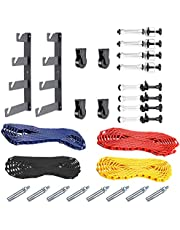 Neewer® Photography 4 Roller Wall Mounting Manual Background Support System, Including Two(2) Four-fold Hooks, Six(6) Expand Bars, Three(3) Chains, Ten(10) Clamp Screws.