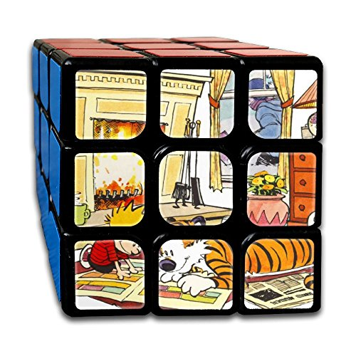 Smooth Sequential Puzzle Toy Calvin And Hobbes Speed Cube Standard 3x3 Speedcubing Puzzle, IQ Games Puzzles