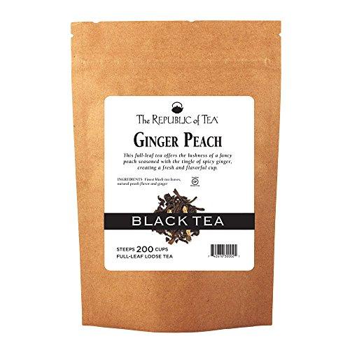 The Republic Of Tea Ginger Peach Black Full-Leaf Tea, 1 Pound / 200 - Ginger Peach Black Tea
