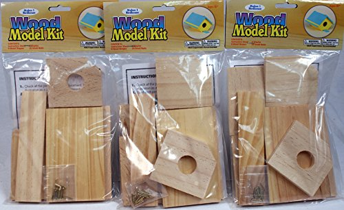 Creative Hobbies Wooden Model Kit Bird House - Wholesale Lot of 3 Kits