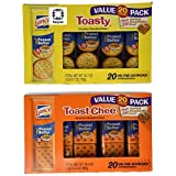 Lance Toasty and Toastchee Assorted Sandwich Crackers, 40 Count (Pack of 40) by Lance