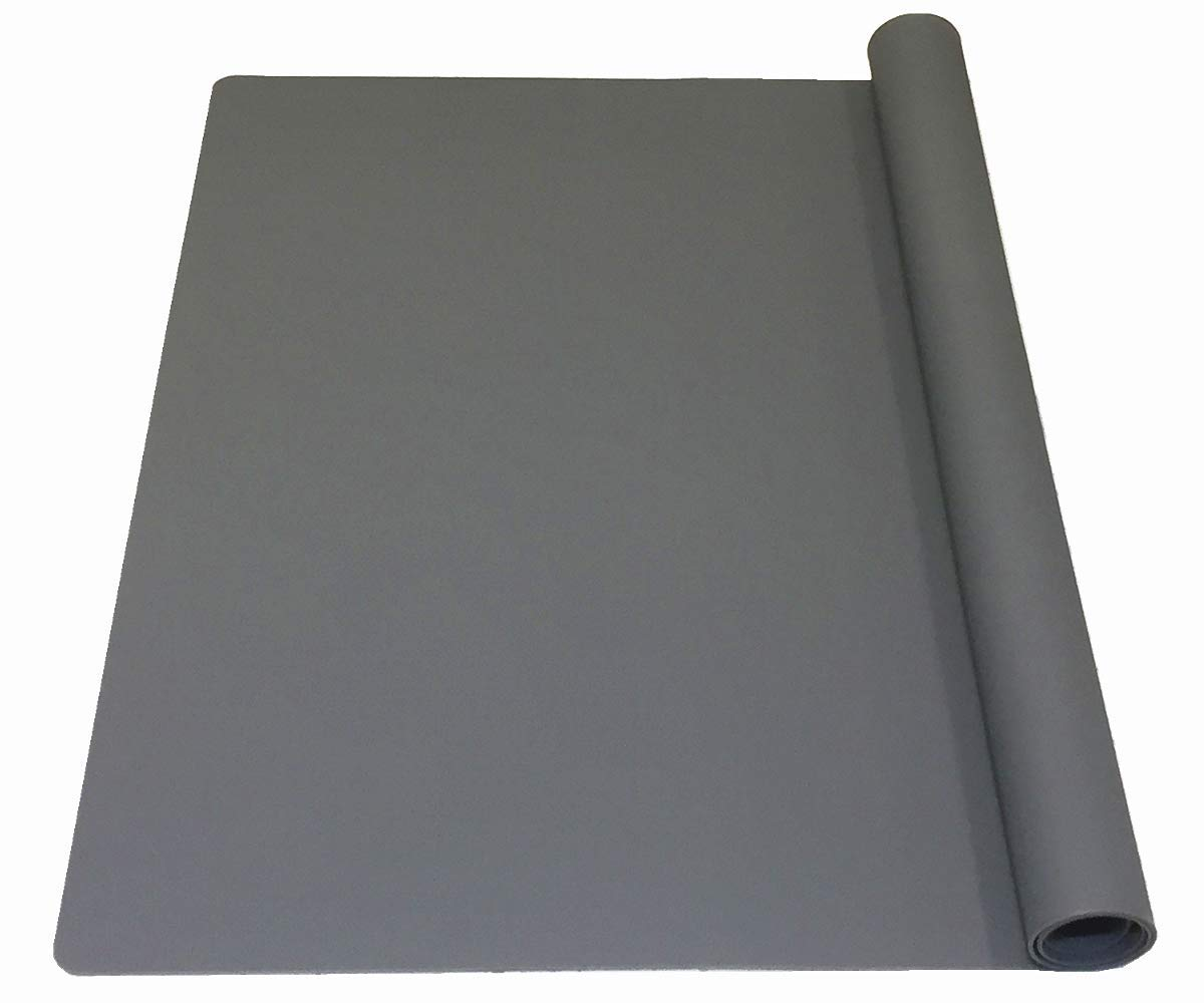 EPHome Extra Large Multipurpose Silicone Nonstick Pastry Mat, Heat Resistant Nonskid Counter Mat, Table Mat, 23.6''15.75'' (XL, Dark Gray)