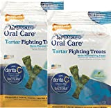 Nylabone Advanded Oral Care Tartar Fighting Dog Treats - Bacon Flavor Mini (30 Pack). Pack of 2