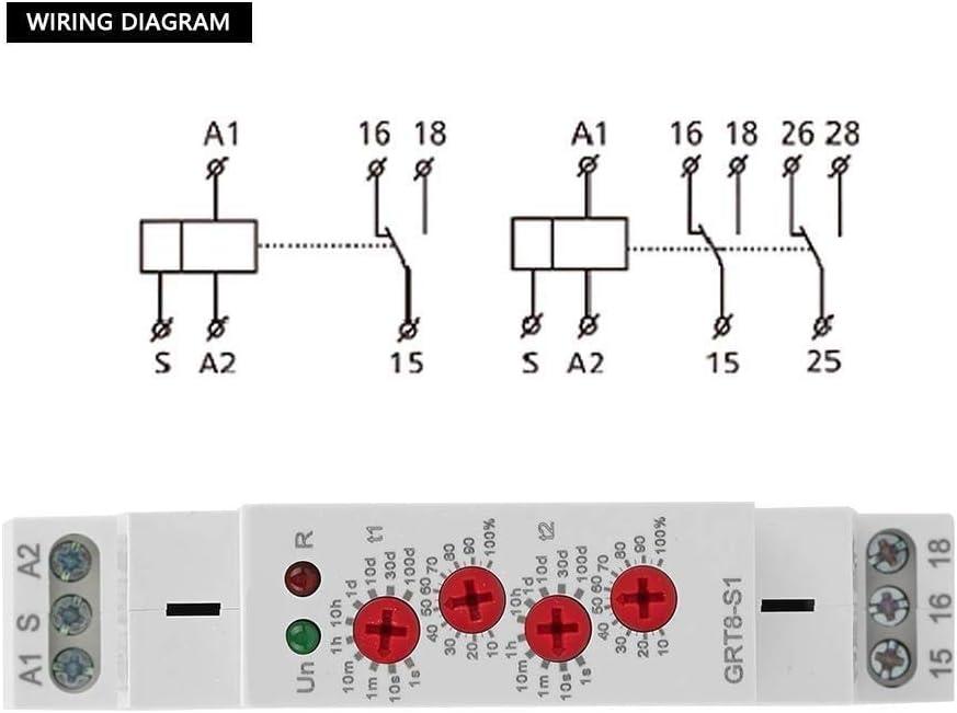 KSTE GRT8-S1 Mini Asym/étrique cycle minuterie ON//OFF R/ép/étition du temps de cycle Relais AC 230V