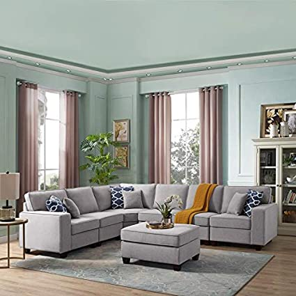 Awe Inspiring Amazon Com Lilola Casanova 7 Piece Modular Sectional Sofa Gmtry Best Dining Table And Chair Ideas Images Gmtryco