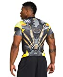 UA Mens Alter Ego Transformers Bumblebee Compression Shirt Extra Large Yellow
