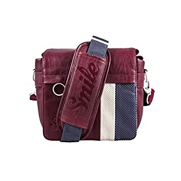 Smile 16521 - Bolsa Messenger Urban Nomad Earth, tamaño S, Granate ...