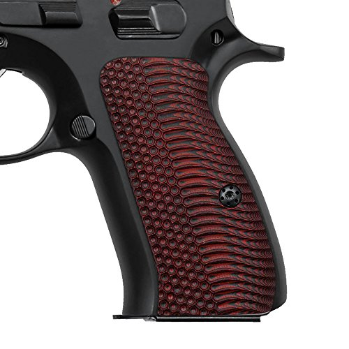 Cool Hand G10 Grips for CZ 75 Compact, OPS Texture, Red/Black, Brand