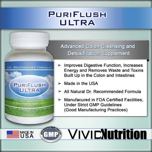 PURIFLUSH ULTRA - Le tout-naturel, avancée Formule complète Colon Cleansing - Meilleur Supplément intestinale Detox Cleanse / Body