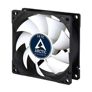 ARCTIC F8 TC - Temperature-Controlled 80 mm Case Fan   Standard Case Cooler   Intelligent Heat Detector regulates RPM   Push- or Pull Configuration