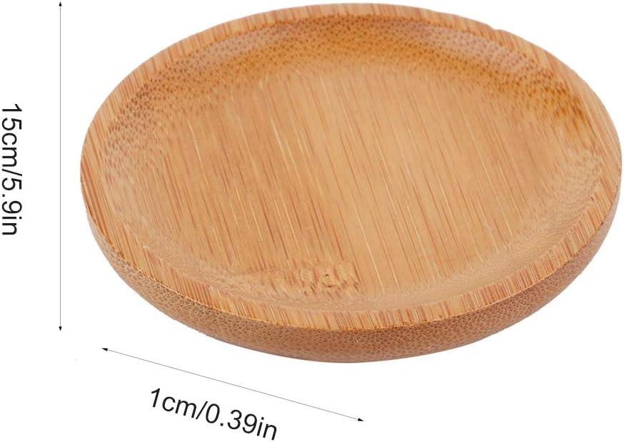 Bamboo Coaster Set Round Insulation Anti-Scalding Cup Holder Kung Fu Tea Set Spare PartsTea Set Cup Coasters Kung Fu Tea Accessories Bamboo Round Cup Holder Tea Accessories