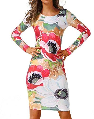 Short Sleeve Dresses Dress White Print Crewneck Women's Coolred Long PYqzw5B