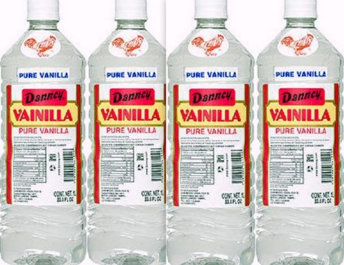 (4 X Danncy Clear Pure Mexican Vanilla Extract From Mexico 33oz Each 4 Plastic Bottle Lot Sealed)
