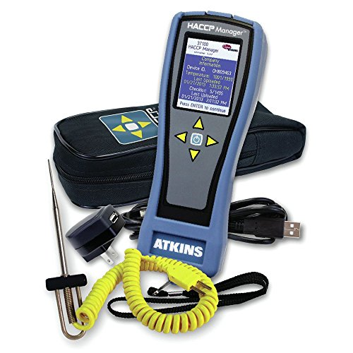 Cooper Atkins HACCP Manager? Food Temperature Bluetooth Monitoring Kit with Probe - 10 1/2''L x 5 1/4''W x 3 1/4''H by Cooper