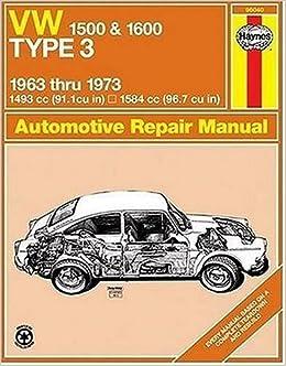 Book Volkswagen 1500/1600 Type 3 Owner's Workshop Manual (Classic Reprint Series: Owner's Workshop Manual) by J. H. Haynes (1-Sep-1988)