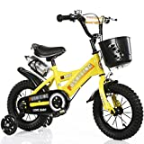 DUWEN Children's Bicycle 18/16 /14/12 Inch 2-3-6-8 Year Old Girl Boy Luxury Pearl White + Flash Wheel + Plastic Basket + Gift Pack (Size : 12 inch)