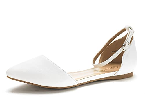 DREAM PAIRS Women's FLAPOINTED-New D'orsay Ballet Flats Shoes