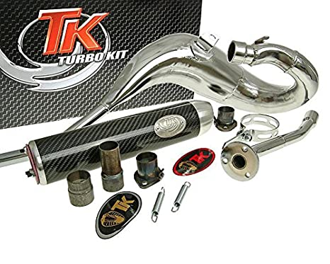 Turbo de escape Kit bufanda Carreras 80 para Aprilia, Derbi, Gilera: Amazon.es: Coche y moto