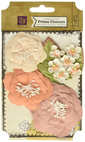 Prima Marketing Cabriole Paper Flowers 1'' To 3'' -Almond by Prima Marketing (Image #1)
