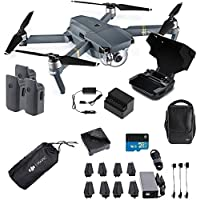 DJI Mavic Pro Fly More Combo Collapsible Quadcopter Free Sleeve , Shark Sticker and Monitor Hood (Scorpion Drones Dealer)